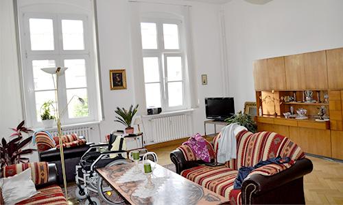Zimmeransicht in der Senioren WG am Schloss